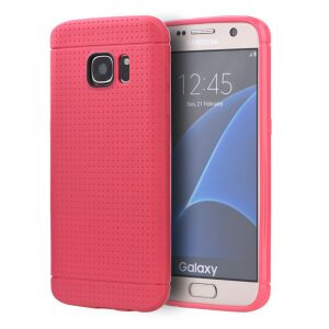 Base Dotted Soft Shell Case Samsung Galaxy S7 Edge - Pink