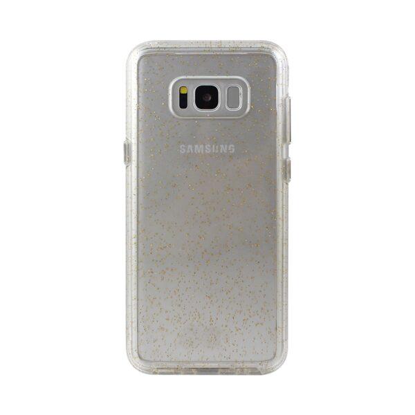 Base Crystal Shield - Reinforced Bumper Protective Case for Samsung S8 - Gold Glitter