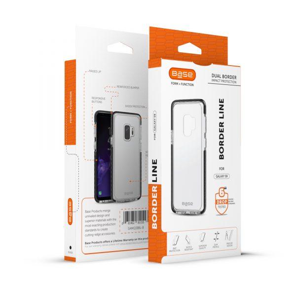 Base BorderLine - Dual Border Impact Protection for Samsung Galaxy S9 - Black