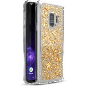 Base CharismaGlimmer - Glimmering Protective Case for Samsung Galaxy S9 - Gold