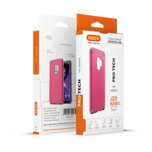 Base ProTech - Rugged Armor Protective Case for Galaxy S9 - Pink