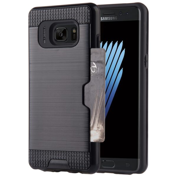 Base Samsung Galaxy Note 7 Hybrid Case with CC Stow - Black