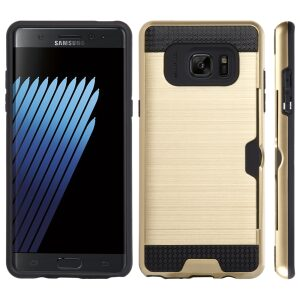 Base Samsung Galaxy Note 7 Hybrid Case with CC Stow - Gold