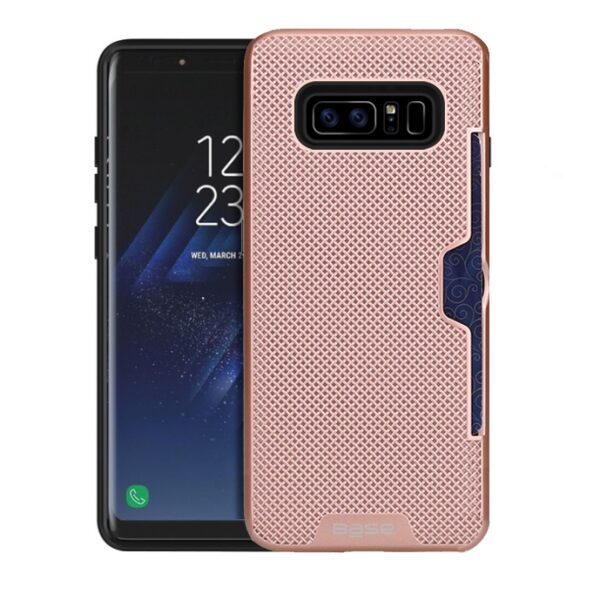 Base DuraFit Stowaway - Dual Layer Protective Credit Card Case for Samsung  Note 8 - Rose Gold