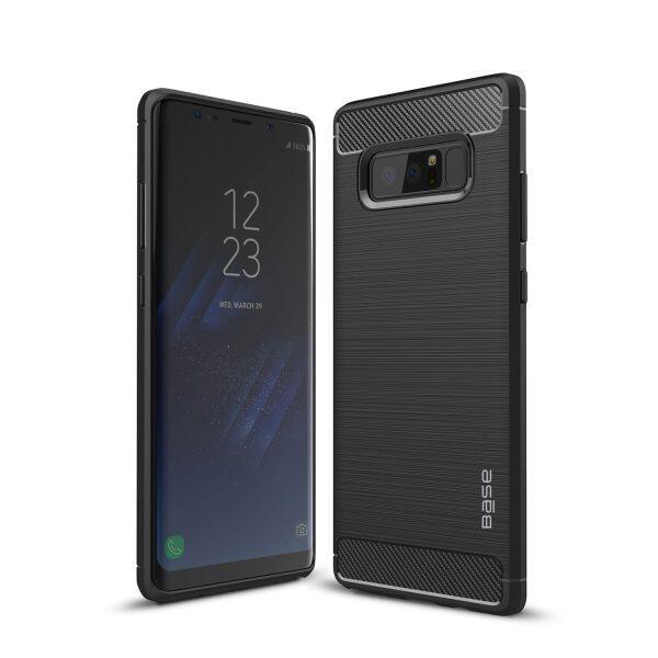 Base ProSlim - Sleek Brushed Protective Case for Samsung Galaxy Note 8 - Black