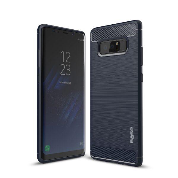 Base ProSlim - Sleek Brushed Protective Case for Samsung Galaxy Note 8 - Navy Blue