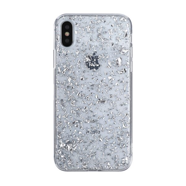 Base CharismaGlimmer - Glimmering Protective Case for iPhone X - Silver