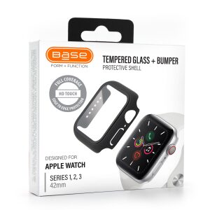 Base Bumper Tempered Glass for Apple Watch Series 1,2,3 Large (42mm)