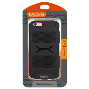 ProTech - Rugged Armor Protective Case for iPhone 6 - Black - BULK