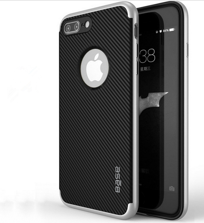 Base DuraSlim Fiber - Protective Case with Reinforced Bumper for iPhone 7/8 Plus - Silver