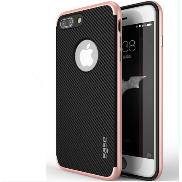 Base DuraSlim Fiber - Protective Case with Reinforced Bumper for iPhone 7/8 Plus - Rose Gold