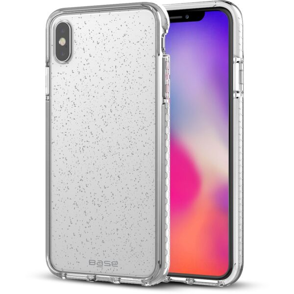 Base BORDERLINE - GLIMMER DUAL BORDER IMPACT PROTECTION FOR iPhone X Max - SILVER