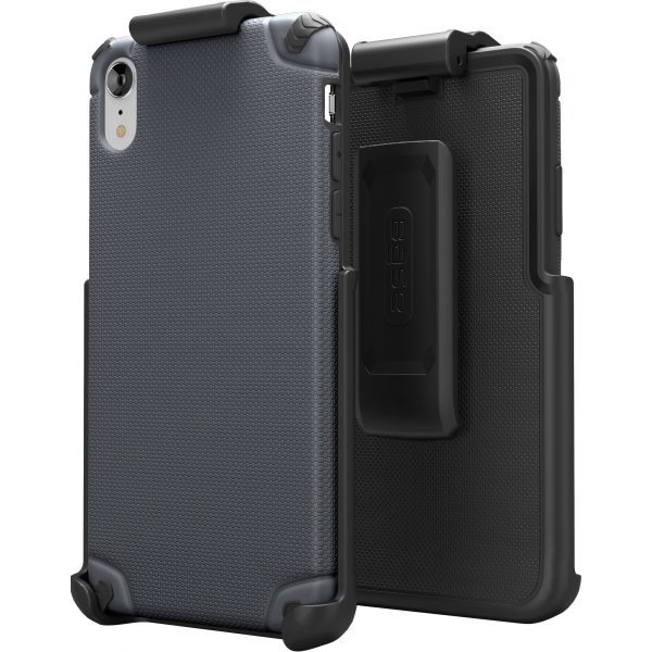 BASE Rugged Armor PRO TECH Protective Case With Holster For iPhone XR  - Grey