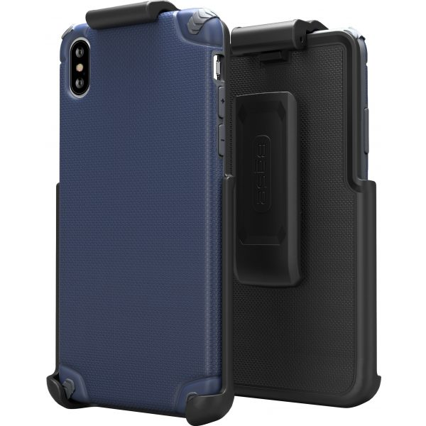 BASE Rugged Armor PRO TECH Protective Case With Holster for iPhone XS Max - Blue