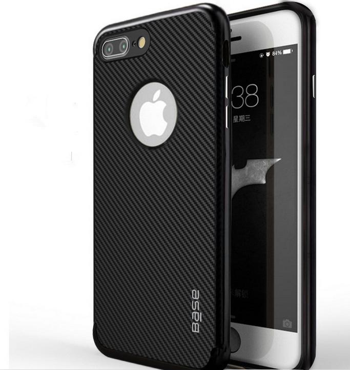 Base DuraSlim Fiber - Protective Case with Reinforced Bumper for iPhone 7/8 Plus - Black