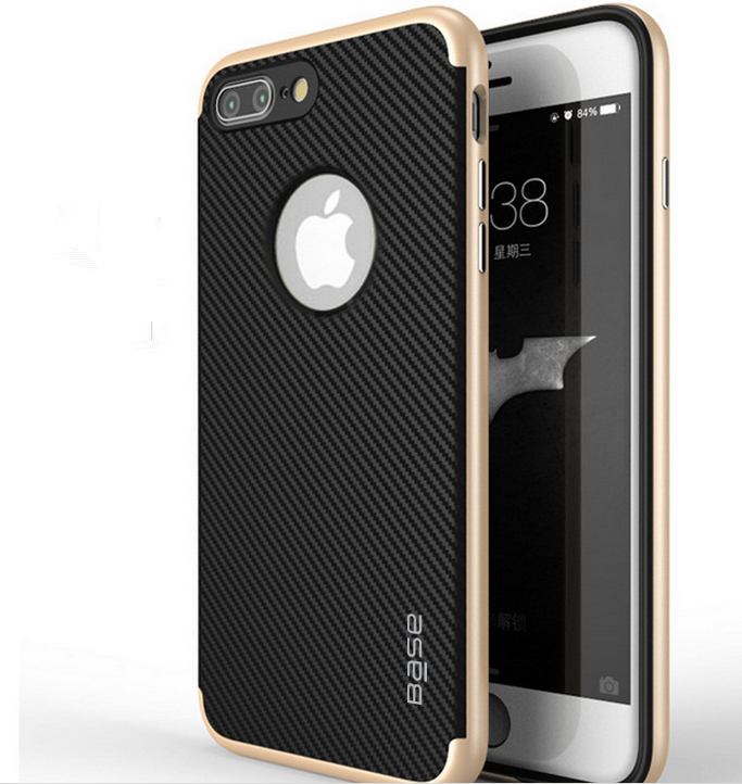 Base DuraSlim Fiber - Protective Case with Reinforced Bumper for iPhone 7/8 Plus - Gold
