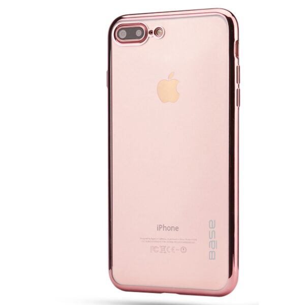 Base Aero Glaze - Electroplate Clear Slim Protective Case for iPhone 7/8 Plus - Rose Gold