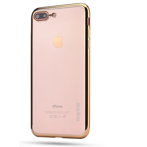 Base Aero Glaze - Electroplate Clear Slim Protective Case for iPhone 7/8 Plus - Gold