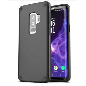 Base ProTech - Rugged Armor Protective Case for Galaxy S9 Plus - Black