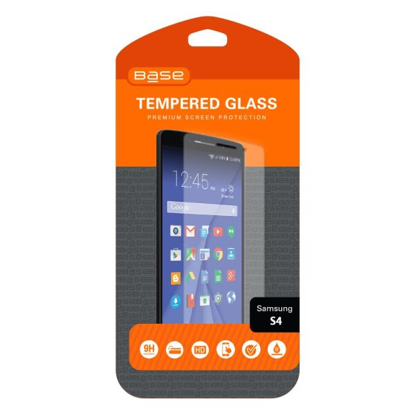 Base Premium Tempered Glass Screen Protector For Galaxy S4