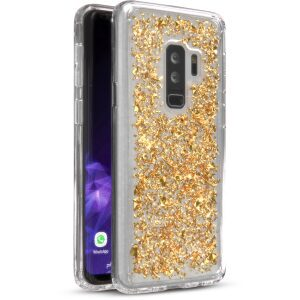 Base CharismaGlimmer - Glimmering Protective Case for Samsung Galaxy S9 Plus - Gold