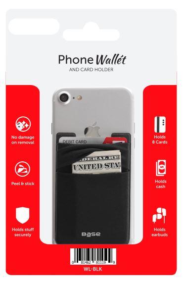 Wallét by Base - Stick-On Wallet - Black