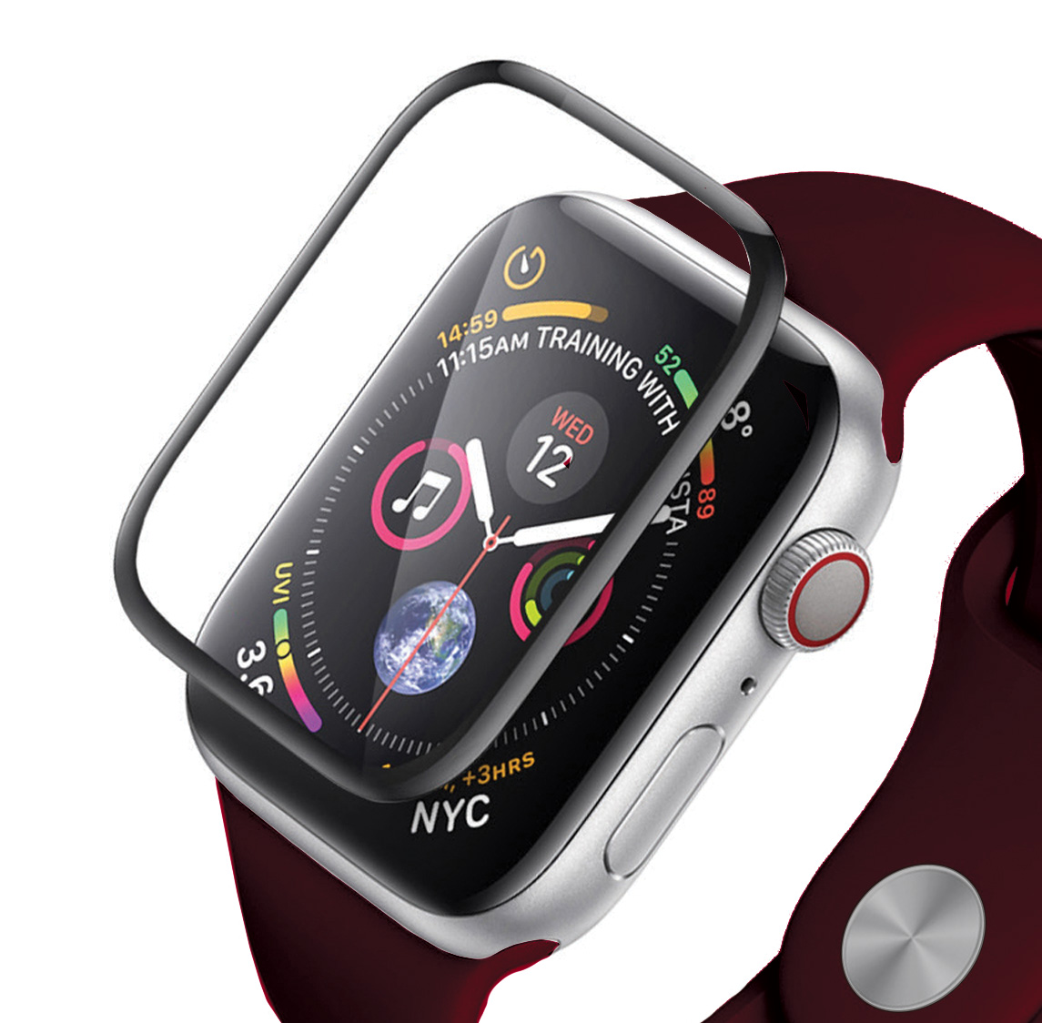Base Apple Watch Series 3/2/1 42mm Tempered Glass Protector