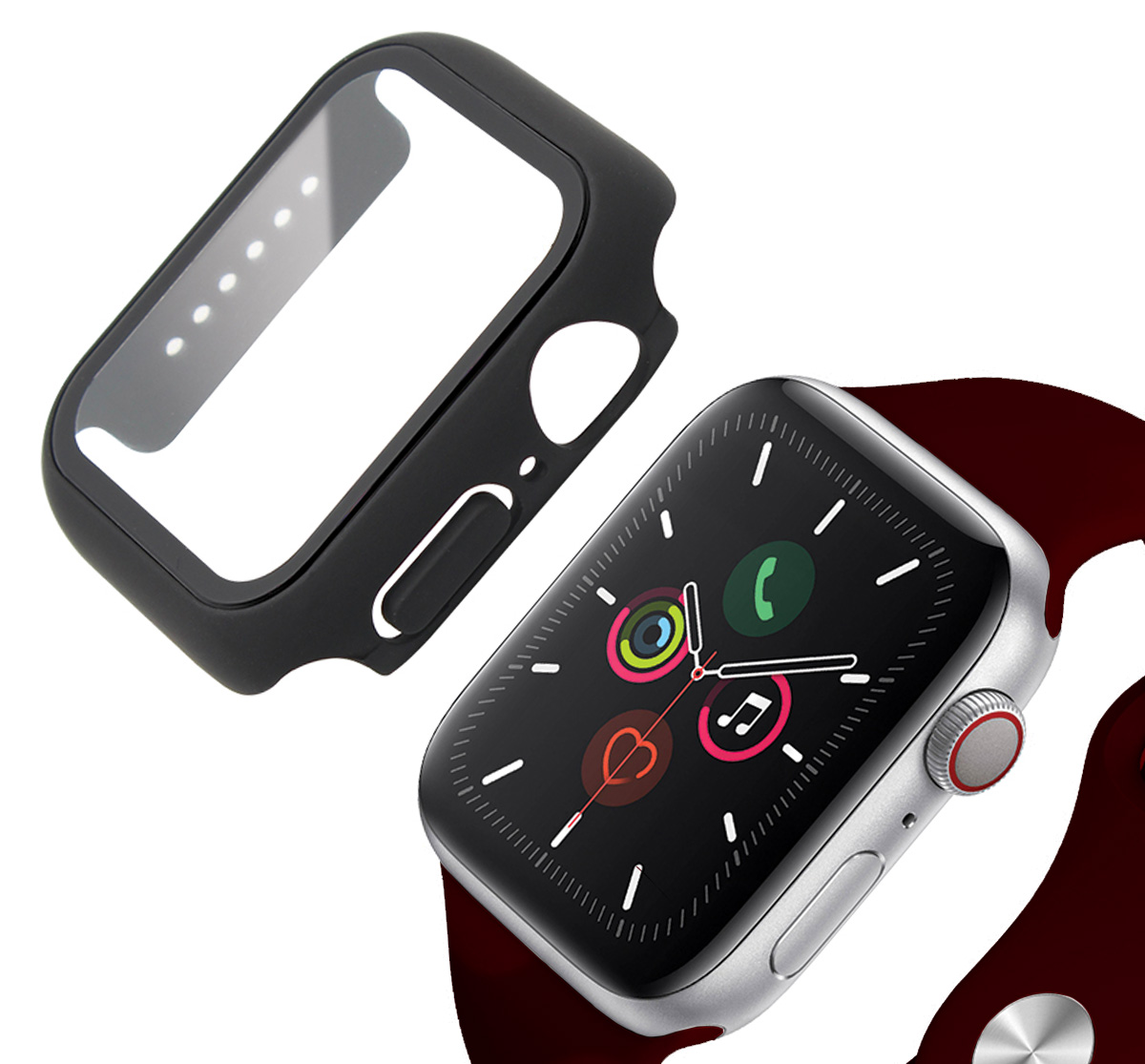 Base Bumper Tempered Glass for Apple Watch Series 4/5/6/SE Large (44mm)