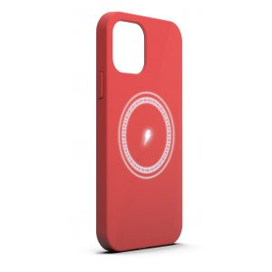 Base MagSafe Compatible Liquid Silicone Gel/Rubber Case iPhone 12 / iPhone 12 Pro (6.1) - RED