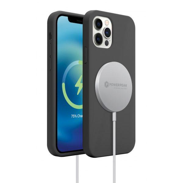 Base MagSafe Compatible Liquid Silicone Gel/Rubber Case iPhone 12 Mini (5.4) - Black