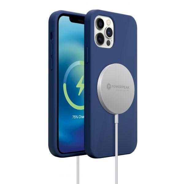 Base MagSafe Compatible Liquid Silicone Gel/Rubber Case iPhone 12 Mini (5.4) - Blue