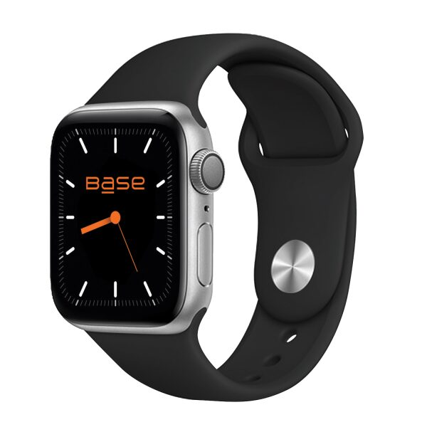 Base Apple Watch Silicone Bands  - Small (38/40mm) - Black