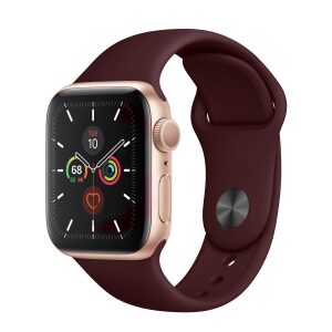 Base Apple Watch Silicone Bands  - Large (42/44mm) - Wine Red