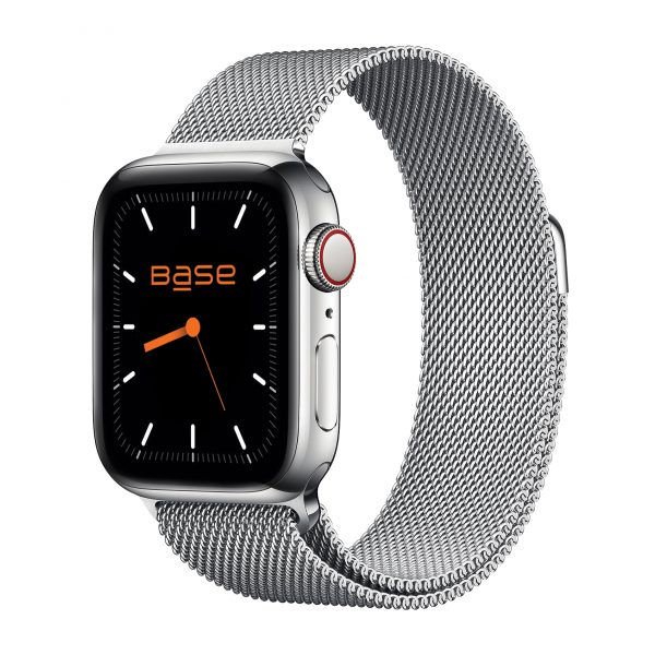 Base Apple Watch Stainless Steel Bands - Small (38/40mm) - Silver