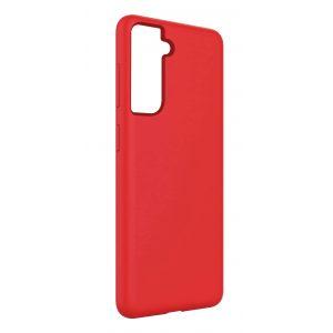 Base Liquid Silicone Gel/Rubber Case Samsung Galaxy S21 - Red