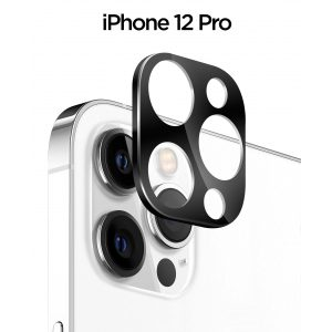 Base iPhone 12 Pro (6.1) - Aluminum Camera Lens Glass Protector {Pro Only!}