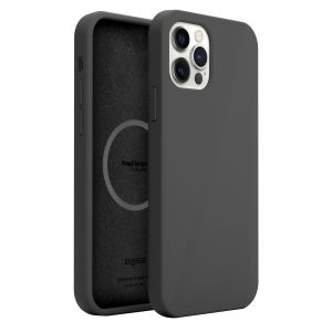 Base MagSafe Compatible Liquid Silicone Gel/Rubber Case iPhone 12 / iPhone 12 Pro (6.1) - Black
