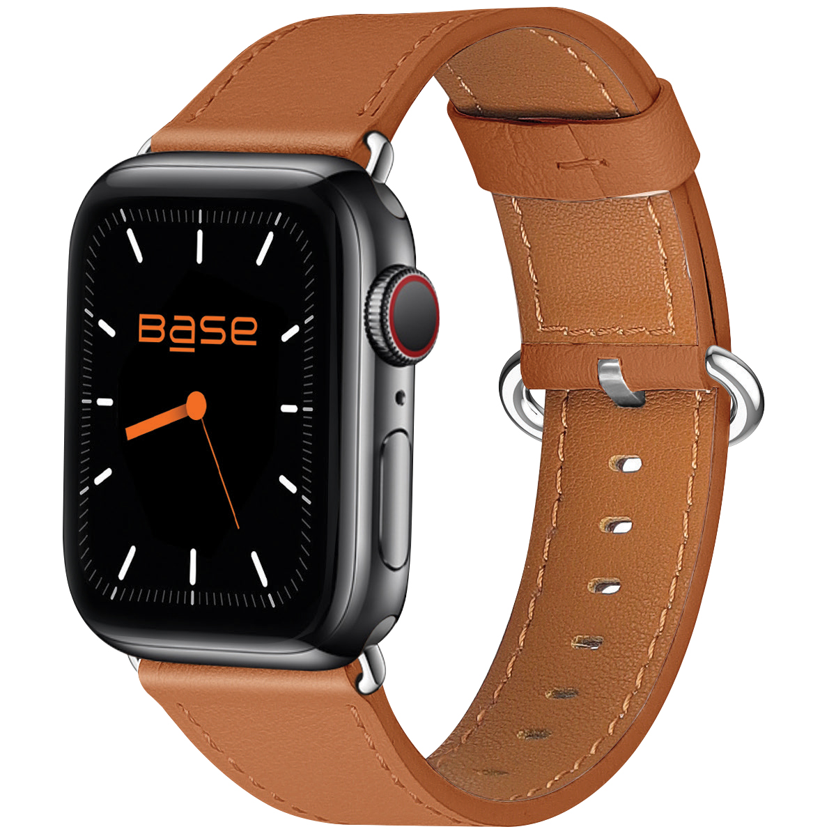Base Apple Watch Full-Grain Leather Bands  - Small (38/40mm) - Brown