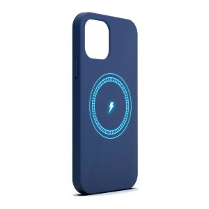 Base MagSafe Compatible Liquid Silicone Gel/Rubber Case iPhone 12 Pro Max  (6.7) - Blue