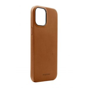 Base MagSafe Compatible Vegan Leather Case For iPhone 12 Pro Max (6.7) - Brown