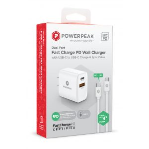 PowerPeak 18W Type C PD Wall charger - White
