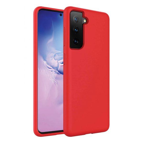 Base Liquid Silicone Gel/Rubber Case Samsung Galaxy S21PLUS - Red