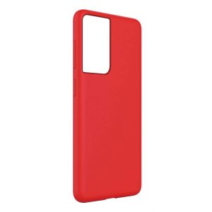 Base Liquid Silicone Gel/Rubber Case Samsung Galaxy S21Ultra - Red