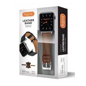 Base Apple Watch Full-Grain Leather Bands  - Large (42/44mm) - Brown