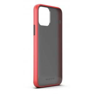 Base iPhone 12 / iPhone 12 Pro (6.1) - DuoHybrid Reinforced  Protective Case  - Clear/Red