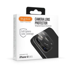 Base iPhone 12 (6.1) - Aluminum Camera Lens Glass Protector {6.1 Regular / Not pro!}