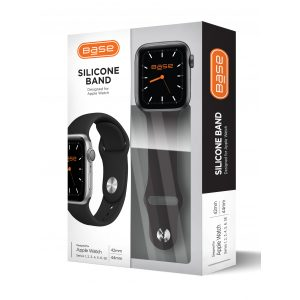 Base Apple Watch Silicone Bands  - Large (42/44mm) - Black