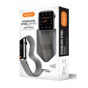 Base Apple Watch Stainless Steel Bands  - Small (38/40mm) - Black