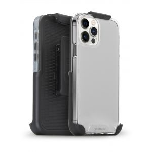 Base iPhone 12 / iPhone 12 Pro (6.1) - B-Air with Holster - Crystal Clear Slim Protective Case