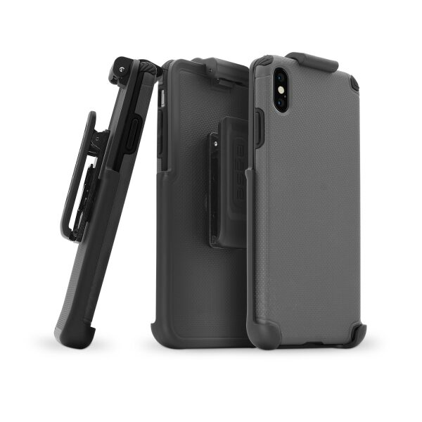 BASE Rugged Armor PRO TECH Protective Case With Holster for iPhone XS Max - Grey
